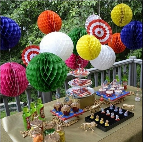 Free shipping 10pcs 20cm 8 inch Tissue Paper Flower Honeycomb ball Lantern Wedding decoration party decoration