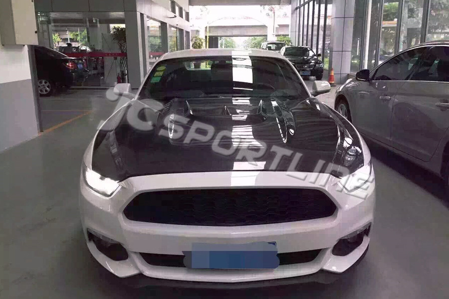 carbon fiber car front hoods covers auto engines hood fit for Ford Mustang 2015(China (Mainland))