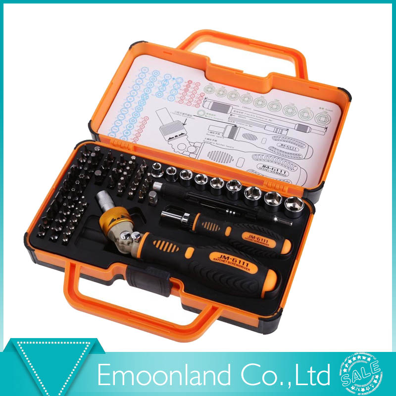 Professional JAKEMY JM-6111 69 in 1 Hardware Screwdriver Set for Tablet, Pc, Macbook,Mobile Cell Phone Open Tool Kit<br><br>Aliexpress