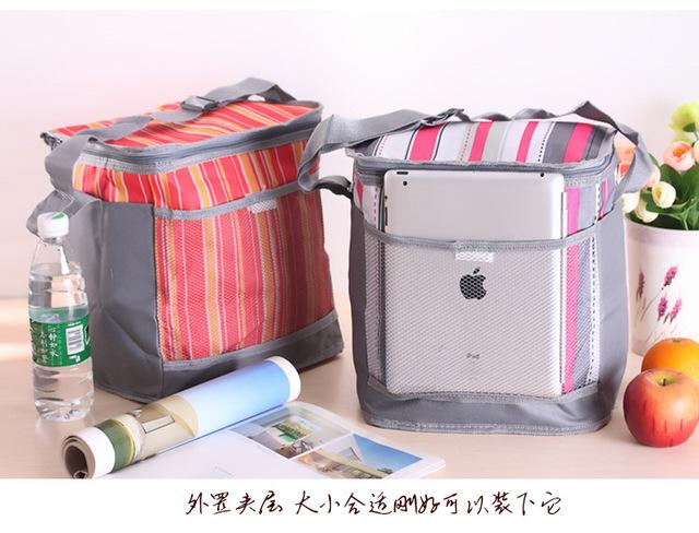 Обед Carry Хранения Женщины портативный shouder изолированные обед мешок коробка ...