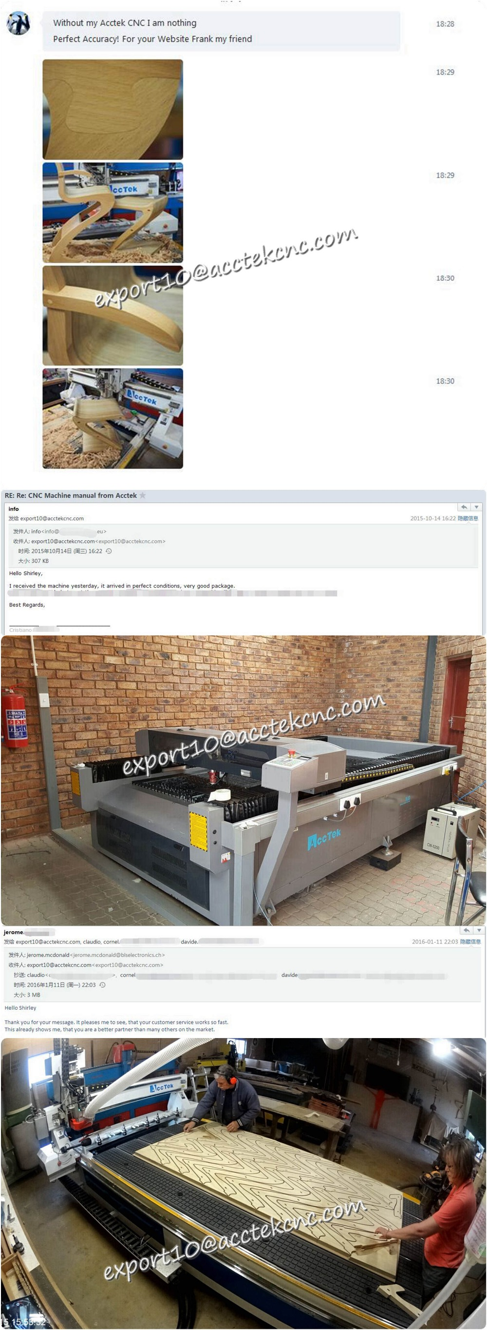 2.Acctek Machinery Happy user show