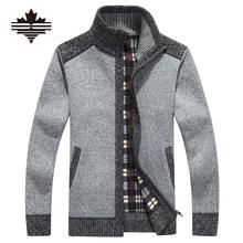 New Arrives Autumn Winter Men's Cardigans Sweaters Mandarin Collar Casual Clothes For Men Zipper Sweater Warm Knitwear Sweater(China (Mainland))