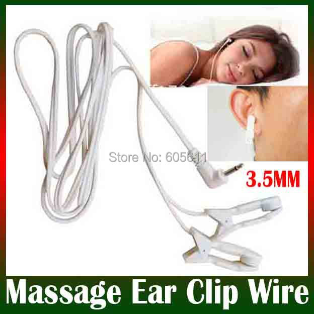 3.5mm tens ems Massage Ear clip electrode connecting lead wire Sleep insomnia acupuncture therapy machine slimming massager - hebe yang's store