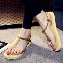 New 2016 Fashion Outdoor Women Summer Style Shoes Beach Hot Lightweight Sandal Slippers Non-slip Classic Roman Sandals O697