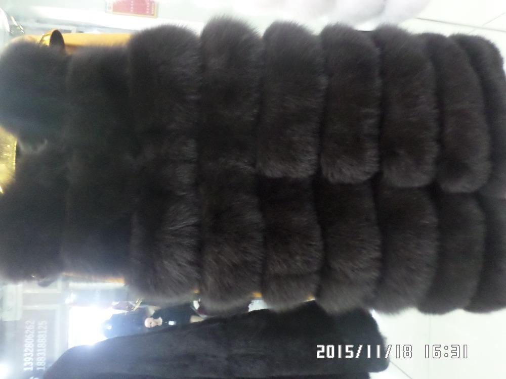 90CM long dark brown fox fur  vestОдежда и ак�е��уары<br><br><br>Aliexpress