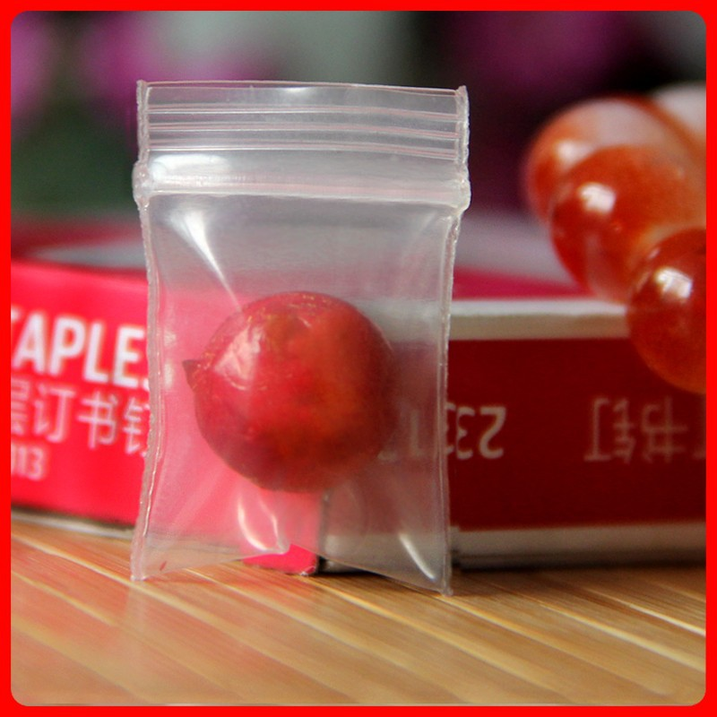 Grip Seal Transparent Polythenesmall plastic bags 1.5cm*2.5cm 100pcs retail plastic bags Packaging Packages Packing(China (Mainland))