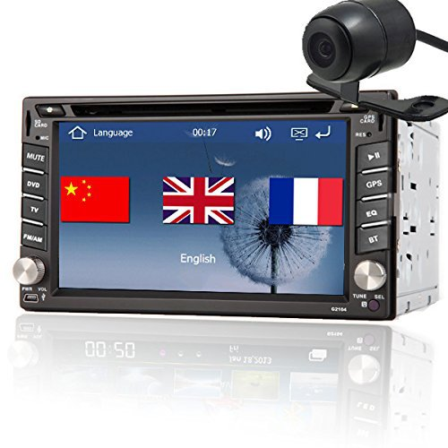 "Back Camera+6.2"" GPS Navi Double 2 DIN Car Stereo DVD CD Player USB BT IPOD Car Video Audio Vehicle Head unit In-dash Car PC(China (Mainland))"