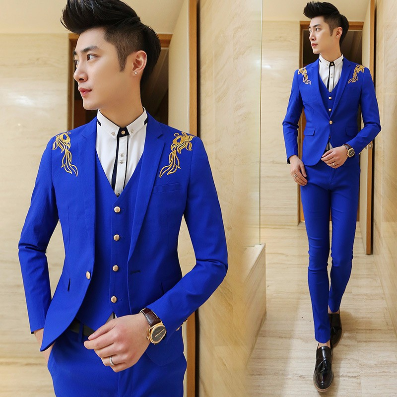 Wholesale- 2017 New Design Royal Blue Classic Men's Suit ...