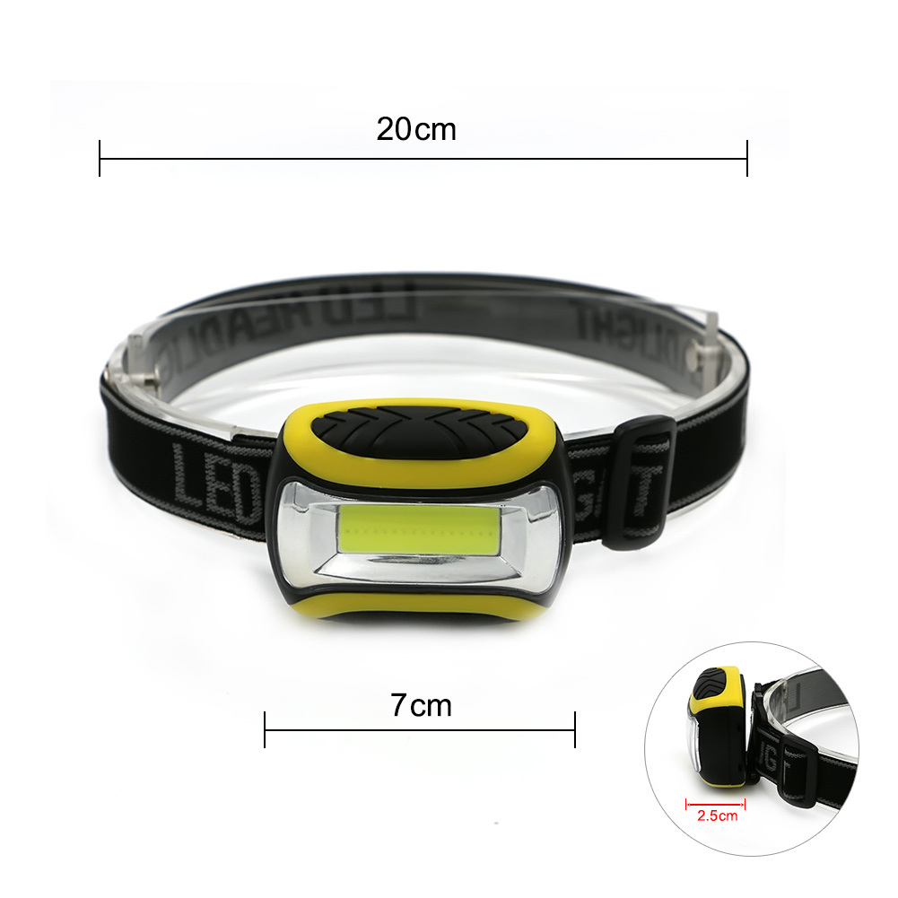 Mini Light-weight COB LED Waterproof Head Light Lamp 3-Modes Powered By 3*AAA Headlight Head Torch Lanterna For Camping