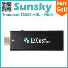 EZCast Pro Dongle MHL HDMI Mirror2TV Miracast Airplay DLNA TV Stick Support 4 to 1 Split Screens Better Than Google Chromecast(China (Mainland))