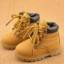 Hot Sale Childrens Snow Boots Warm Leather Botas Motorcycle Boys Girls Kids Plush Thick Cotton Shoes Waterproof Ankle Boot Shoe(China (Mainland))