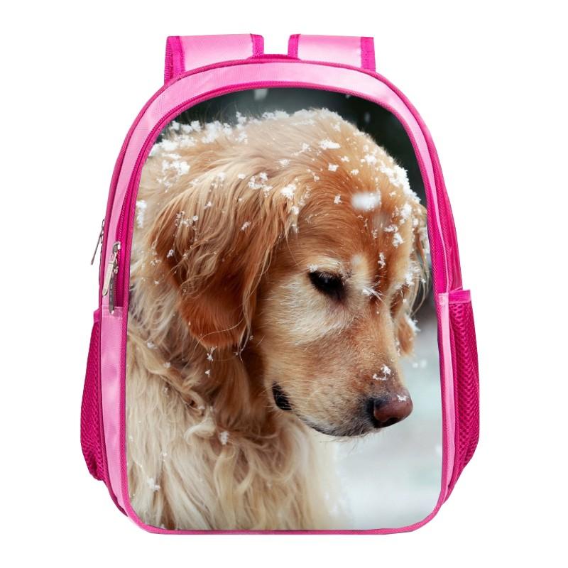 Cute printing dog animal women's bag Children travel backpack girls school bags for baby bookbag for student bags for kids 015