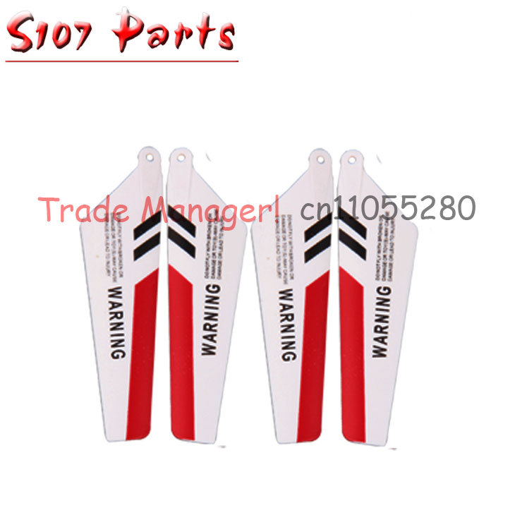 Cheap wholesale SYMA s107 rc helicopter Accessories manufacturers main fan kit Main Blade part for s107g Helicopter(China (Mainland))