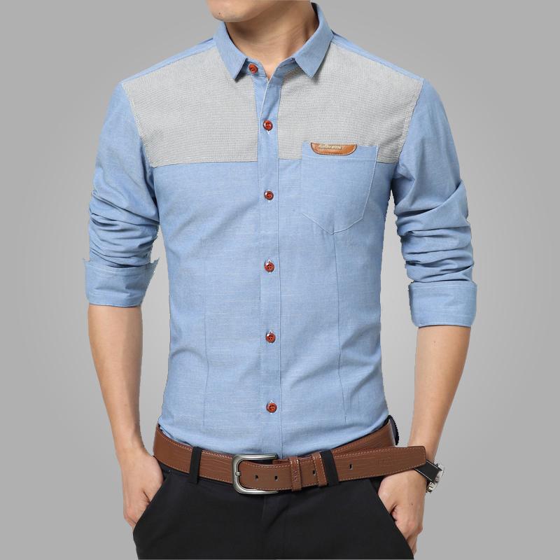 New 2016 Spring Casual Men Shirt Cotton Mens Dress Shirt Slim Fit Fashion Shirts Plus Size Long sleeve Camisas Big Size 5XL CA2(China (Mainland))