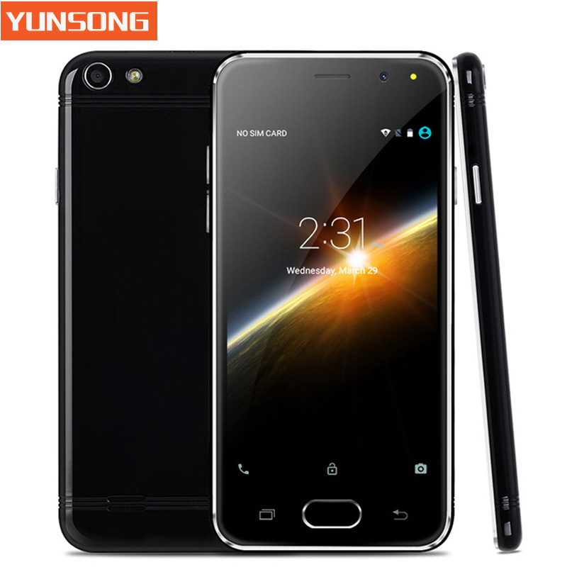YUNSONG Mobile Phone 4.5 Inch Smartphone Android 5.1 MTK6580 Quad Core Unlock Telephone Dual Sim Card WiFi GPS Cell Phone(China (Mainland))