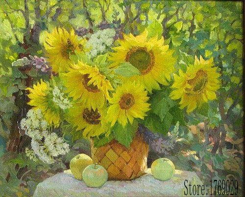 40*50 cm cuadros decoracion wall art home decor pictures for living room diy oil on canvas sun flower painting by numbers YZ242(China (Mainland))