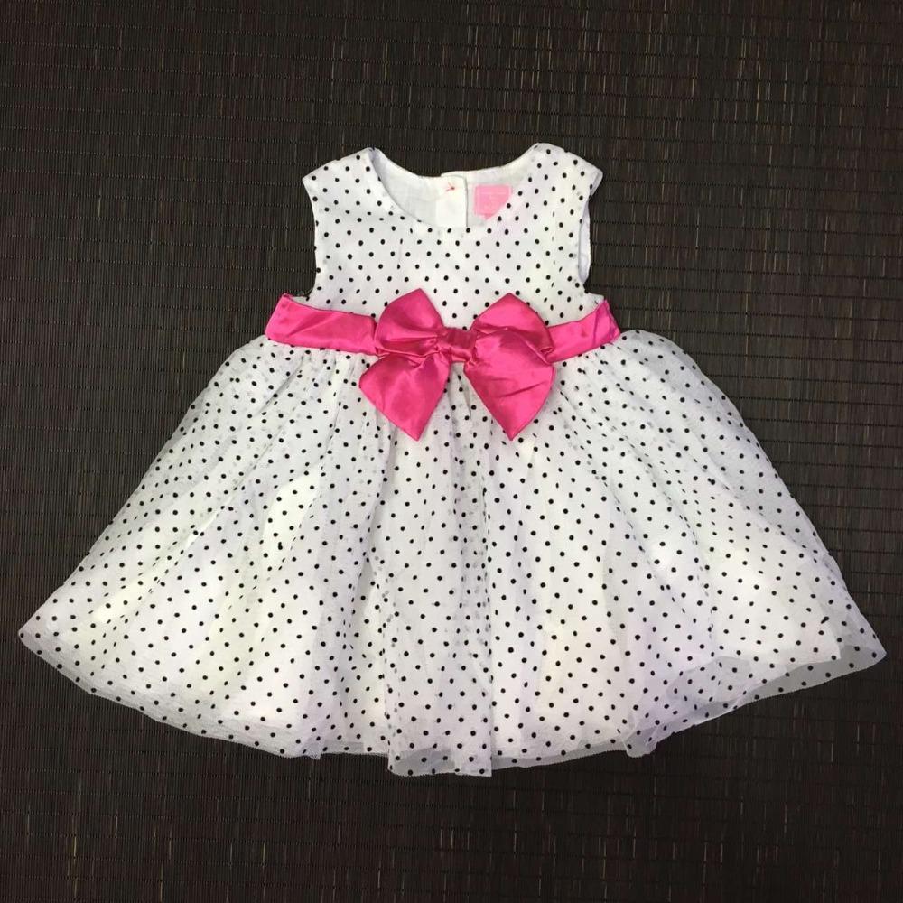 Здесь можно купить  2016 New girls baby Dots bow dress Princess child vest dresses wholesale  Детские товары