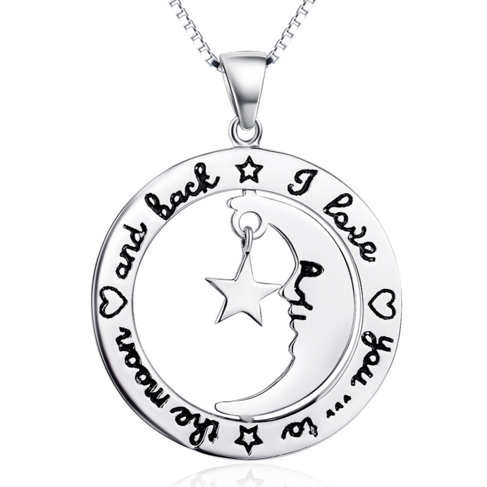 Forever Love Message Engraved Real 925 Sterling Silver Pendant Necklace Fashion Constume Jewelry GNX8756(China (Mainland))