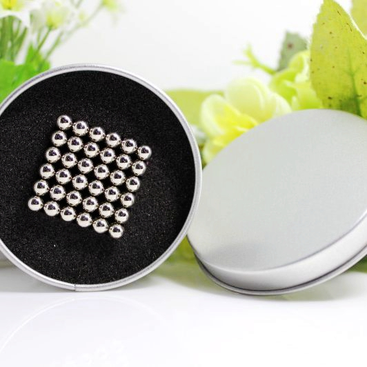 216pcs 5mm neodymium magnetic balls magic cube magnets puzzle Nickel color- with metal box(China (Mainland))