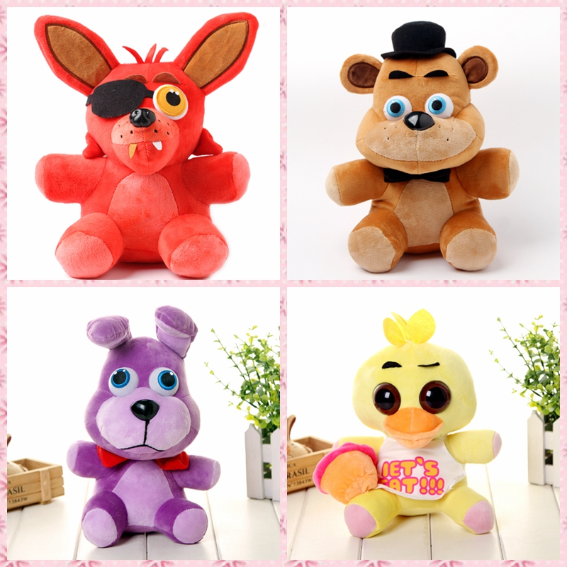 "1pcs Five Nights At Freddy's 4 FNAF Foxy Freddy bear Fox Bonny Rabbit Stuffed animals Plush Anime Toys Doll 10""(China (Mainland))"