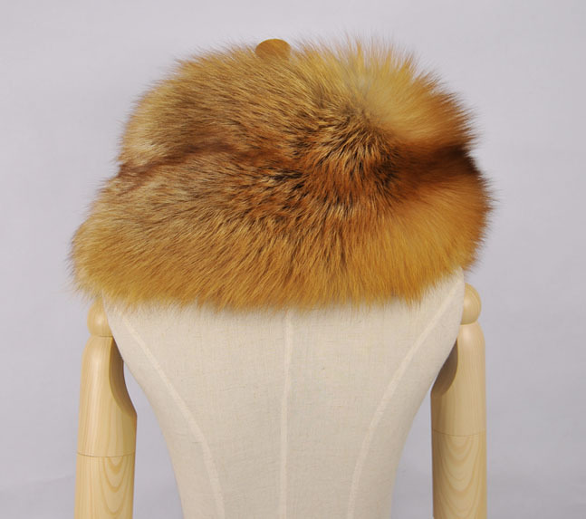 Winter Women's Natural Real Fox Fur Scarf Fox Fur Cap Fur Collar Scarves 80cm Collar Soft Fur Scarf Neck Warmer