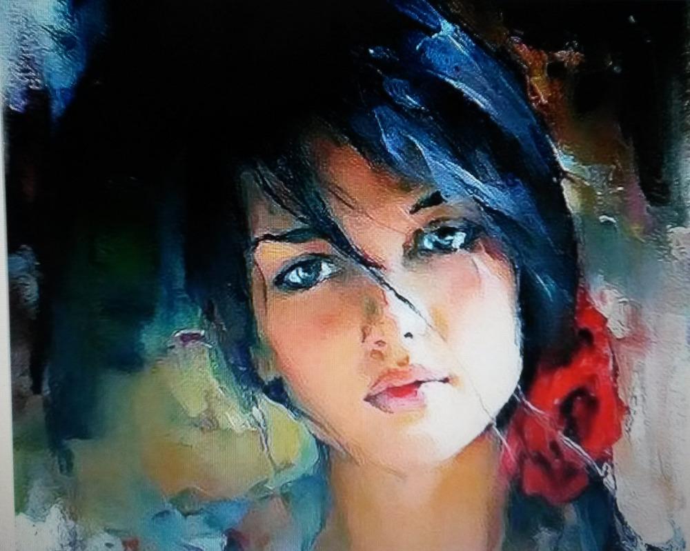 Face Acrylic Painting Emily