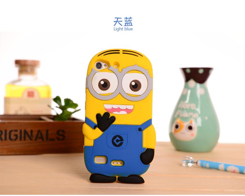 3D Cute Cartoon Despicable Me 2 Minions Case Minion Yellow Silicone Cover Capa Shell Funda For Lenovo Vibe X2(China (Mainland))