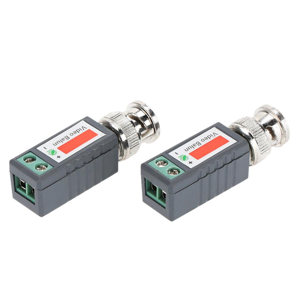 Twisted CCTV Video Balun 1 Pair (2pcs) Passive Transceivers UTP Balun BNC Coax Cat5 CCTV UTP home applicance(China (Mainland))