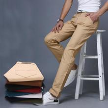 Buy mens cotton pants men 2016 new mens long pants solid color trousers men casual suit pants size 28 38 men's slim fit pantalones for $29.99 in AliExpress store