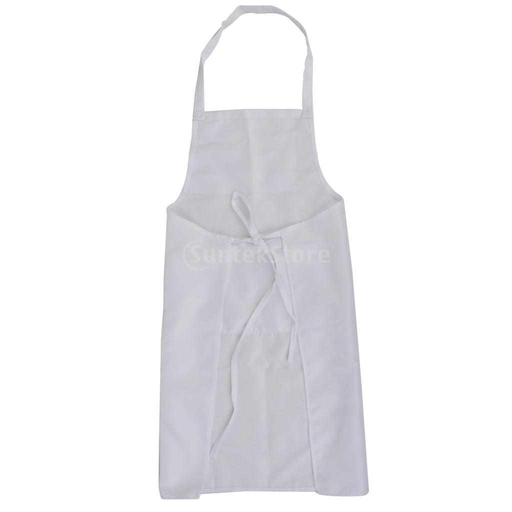 White apron restaurant -  White Kitchen Cooking Apron Home Restaurant