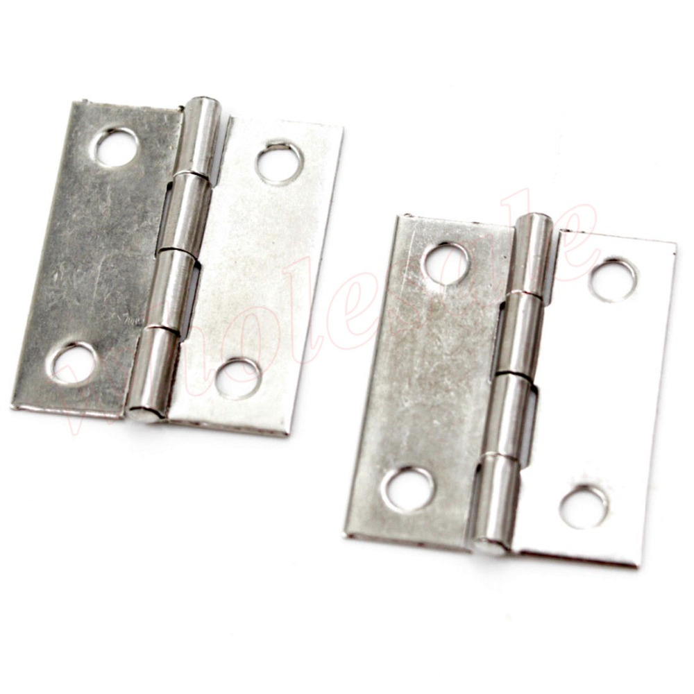 40pcs/lot Wholesale of Stainless Steel 1.5 Inch 35 x 16 x 3.5mm Door Hinge Cabinet Closet Hinges(China (Mainland))