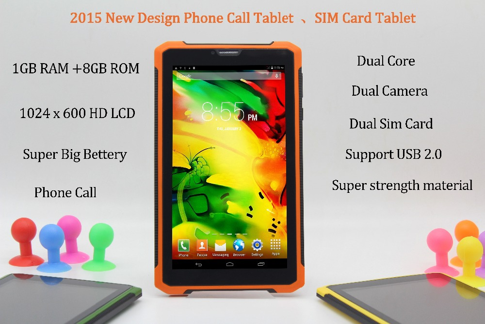 7 Inch Original 3G Phone Call Android Dual Core Tablet pc Android 4.2 1GB RAM 8GB ROM WiFi  FM Bluetooth 1G+8G Tablets Pc USB2.0