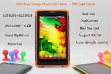 7 Inch Original 3G Phone Call Android Dual Core Tablet pc Android 4.2 1GB RAM 8GB ROM WiFi FM Bluetooth 1G+8G Tablets Pc USB2.0(China (Mainland))