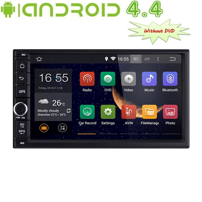 1024*600 Universal Double 2 Din Android 4.4 Car DVD Player+3G Audio GPS Navigation+Automotivo PC Head Unit Stereo(China (Mainland))
