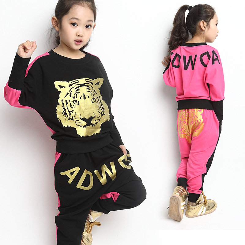 Buy 2016 Brand Girls Autumn Spring Clothing Set Print
