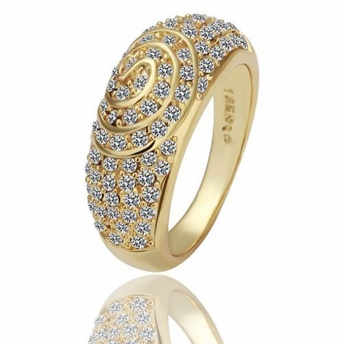 r070 fashion 18k yellow gold plated rings new fashion