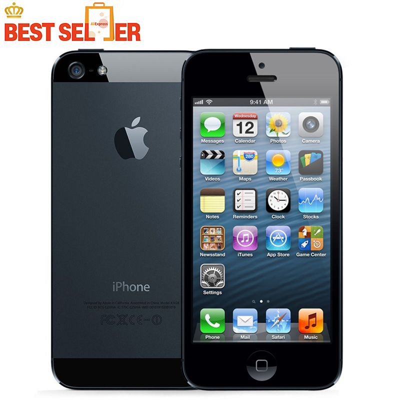 "2016 Top Selling Original iPhone 5 WCDMA Mobile phone Dual-core 1G RAM 4.0"" 8MP Camera WIFI GPS IOS 7-IOS 9 Optional(China (Mainland))"