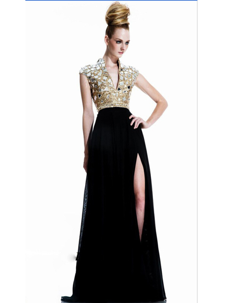 Черные платья с золотом с доставкой