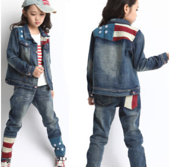 Children 39 S Wear 2015 Fall Of The New European And American Style Jeans Suit The Big Boy Jeans
