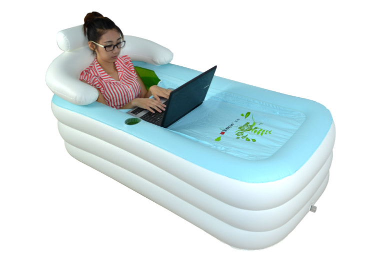 Bassin de douche pliante seau gonflable baignoire adultes for Piscine en plastique