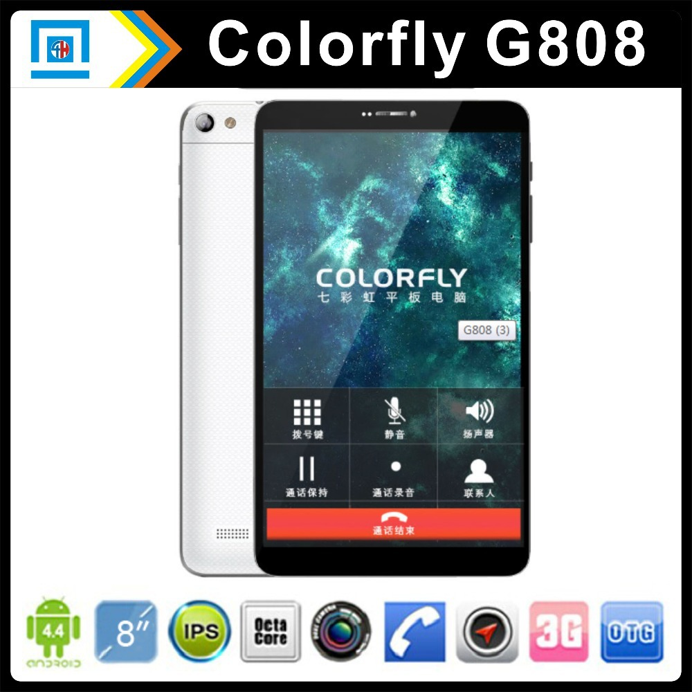 8 inch Colorful Colorfly G808 3G MTK6592 Octa Core Tablet PC IPS 1280x800 Phone Call Tablets