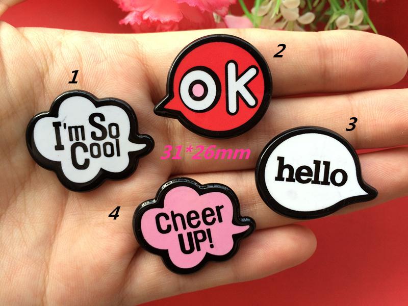 Free shipping Personality graffiti Scrapbook paste accessories resin letter DIY Fashionable phone DIY pendant brooch 50PCS(China (Mainland))
