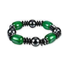 ROMAD Вес потери браслет для женский, черный камень магнитный браслет здоровья гематит стрейч Для мужчин браслет 2018 R4(China)