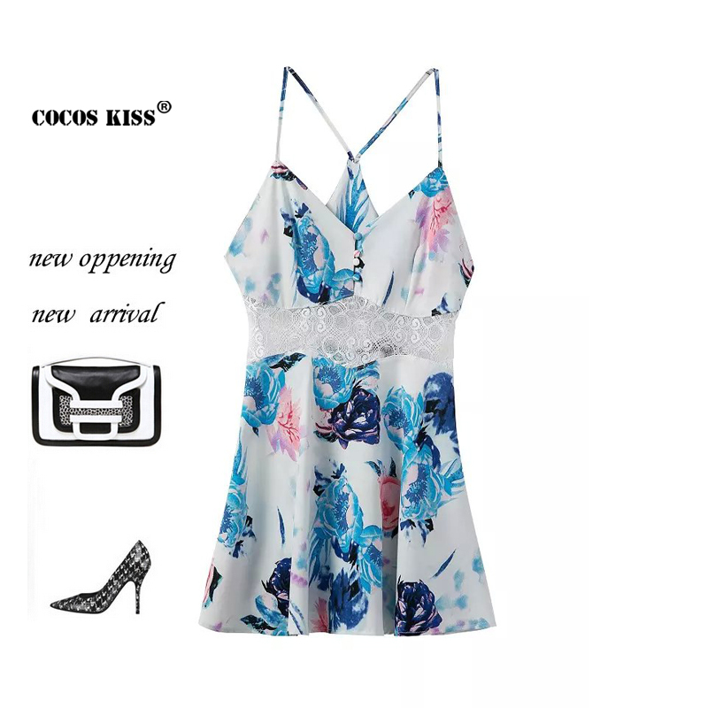 2015 new summer jumpsuits casual Print chiffon lace stitching sexy Camisole Bra regular all-match women jumpsuits free shopping(China (Mainland))
