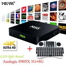 Buy M9S X1 Android TV Box Android 6.0 S905X Quad-core UHD 4 K 1 GB 8 GB Mini PC 1000 M LAN WiFi H.265 Smart Mediaspeler Set top doos for $59.69 in AliExpress store
