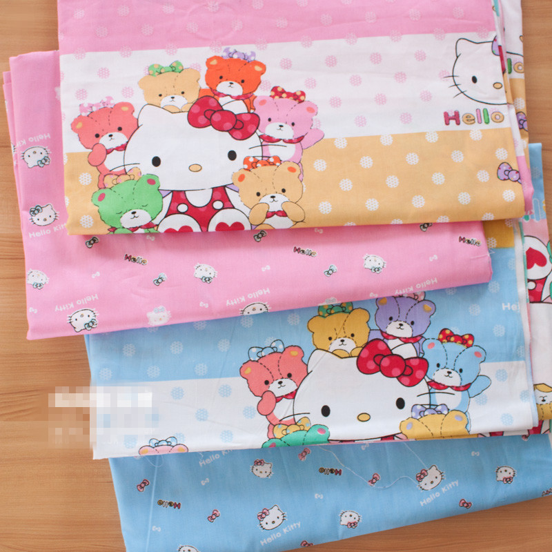 160cm*100cm pure Cotton twill fabric sewing diy handmade baby fabric - hello kitty printed cloth for doll, clothing, curtains(China (Mainland))