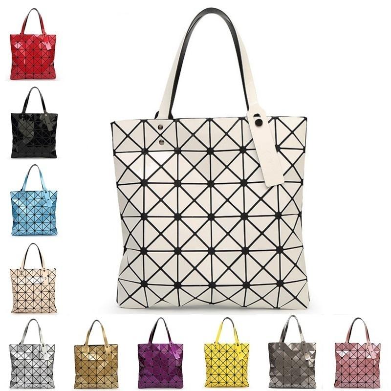 Ladies Folded Geometric Plaid Bag Women Fashion Casual Tote Top-handle Bag Shoulder Bags Bao Bao Pearl BaoBao Bolsas Handbags(China (Mainland))