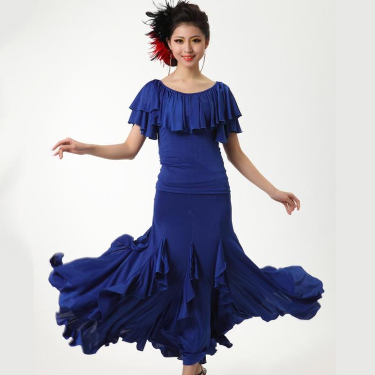 Buy new modern dance skirt practice skirt short sleeve expansion dress