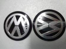 New 4Pcs Car VW Stickers Wheel Center Fits Hub Cap Stickers 55mm VW wheel center emblems for polo golf 4 passat b5 touran bora(China (Mainland))