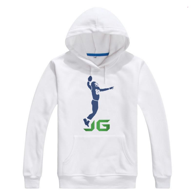 2017 Autumn Winter Men #88 Jimmy Graham Logo Hoodies Seattle Sweatshirts Pullovers Lace-up Seahawks Fashion JG Logo W1030013(China (Mainland))